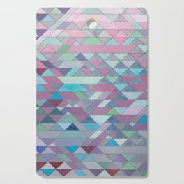 Triangle Pattern no.3 Violet Cutting Board