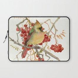 Cardinal Bird and Berries Laptop Sleeve