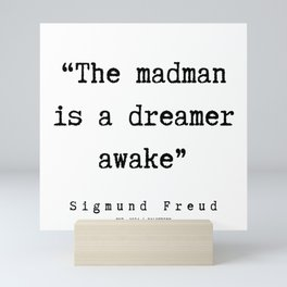 24  |   Sigmund Freud Quotes | 190926 Mini Art Print