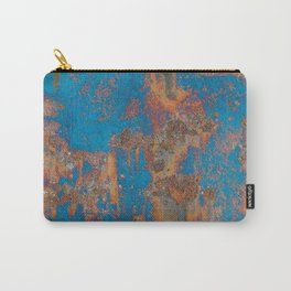 Rust on blue background Carry-All Pouch