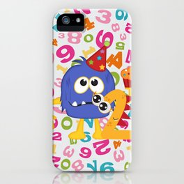 Birthday Monsters 2nd Birthday iPhone Case