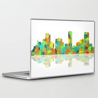 denver Laptop & iPad Skins featuring Denver Skyline by Marlene Watson