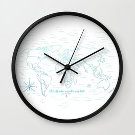 Where We've Been, World, Icy Blue Wall Clock