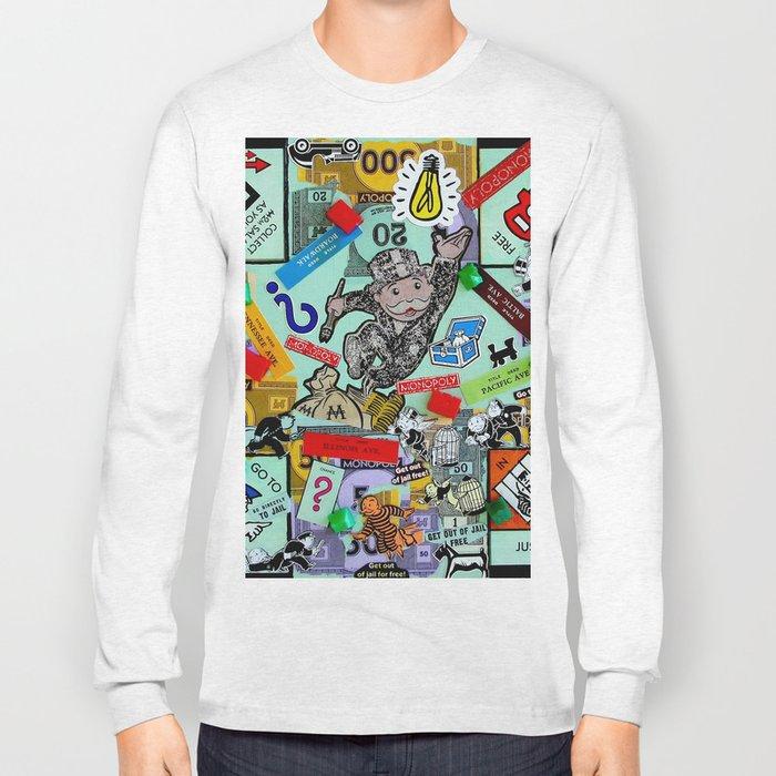 Vintage Monopoly Game Memories Long Sleeve T-shirt