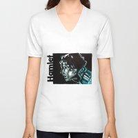 hamlet V-neck T-shirts featuring Barbican Hamlet by aleksandraylisk