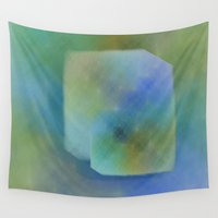 duvet cover Wall Tapestries featuring Duvet Cover 501Cube by Michael Mackin