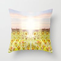 prism Throw Pillows featuring PRISM by Kao Intouch