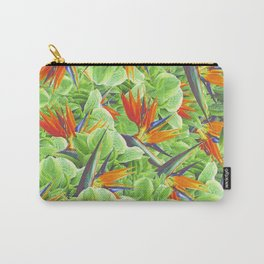 Strelitzia & Leaves Carry-All Pouch