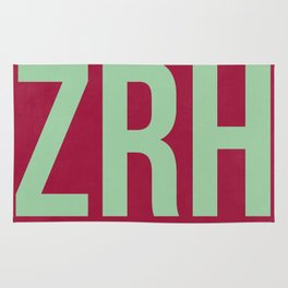 ZRH Zurich Luggage Tag 2 Rug