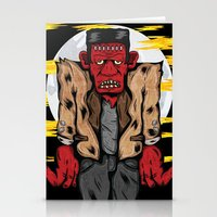 frankenstein Stationery Cards featuring Frankenstein by Pancho the Macho