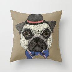 Mr Pug Throw Pillow