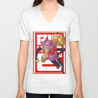 arsenal V-neck T-shirts featuring Add some honey and lemon by Eisu's Art for sale: Prints and stuff