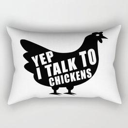 Yep I Talk To Chickens Funny Chicken Farmer Gifts T-Shirt Rectangular Pillow