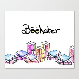 Bookster Canvas Print