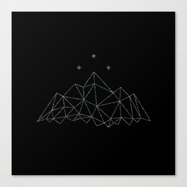 The Night Court insignia from A Court of Frost and Starlight Canvas Print
