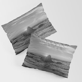 Beachin Life - b&w- Pillow Sham