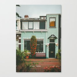 Amsterdam Small House Canvas Print