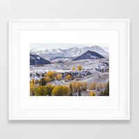gore Framed Art Prints featuring Gore Range by Two Happy Campers