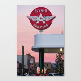 Truckee's Flying A Canvas Print