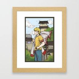 Naruto in Konoha  Framed Art Print