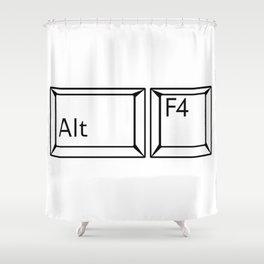 Alt F4 Buttons Shower Curtain