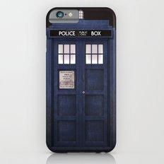 Tardis front iPhone 6 Slim Case