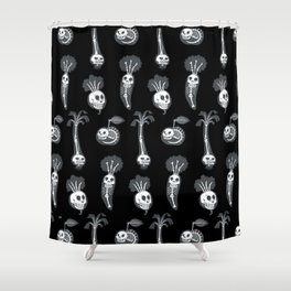 X-rays vegetables (black background) Shower Curtain