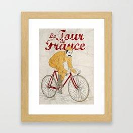 tour de france Framed Art Print