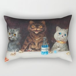 Old Tom Cat Bachelor Party Humorous Cat Print Rectangular Pillow