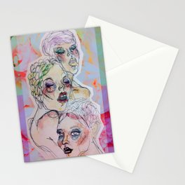 Three Crystalline Roses Stationery Cards