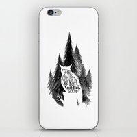 twin peaks iPhone & iPod Skins featuring Twin Peaks by T. Raweewon