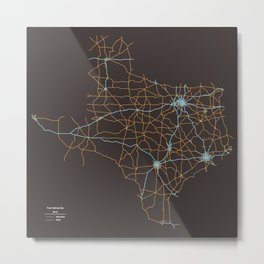 Texas Highways Metal Print