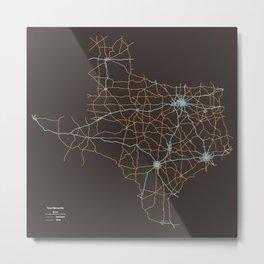 Texas Highways Metal Print