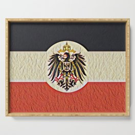 Reichskolonialflagge Flag Drape Germany 1900 Memory Colonial Age Serving Tray