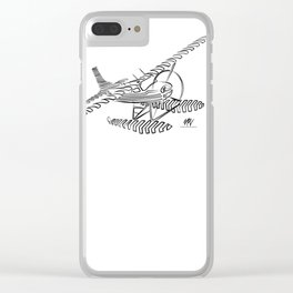 Flying Floating Lines Clear iPhone Case