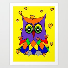 I Love Owls Art Print