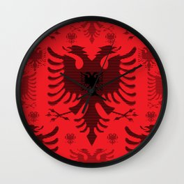 Eagles / Paterns / Creation / Composition III Wall Clock