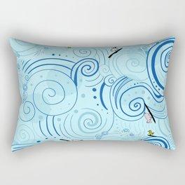 surfing farm animals Rectangular Pillow