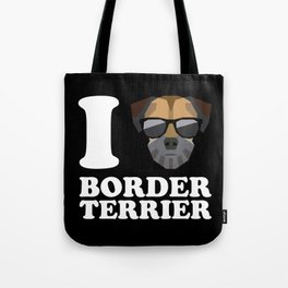 I Love Border Terrier modern v2 Tote Bag
