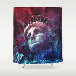 Patriotic Liberty Shower Curtain