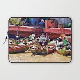 Yangon Harbour Laptop Sleeve