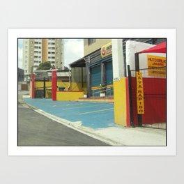 Cityscape Sao Paolo Brazil Art Print
