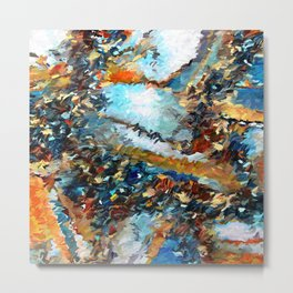 Agate Geode Abstract Metal Print