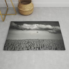 cloud over wheat field Rug