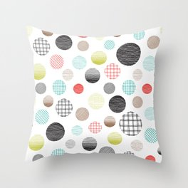 Drawn Circles Throw Pillow
