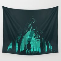 hyrule Wall Tapestries featuring It's Dangerous To Go Alone by filiskun