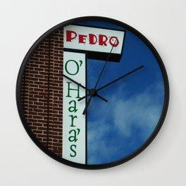 Irish Pedro Wall Clock