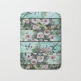 Romantic Rococo wood panel Bath Mat