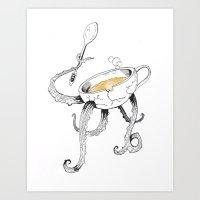 Tea Fights Back Art Print