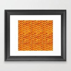 Digital knitting pattern Framed Art Print